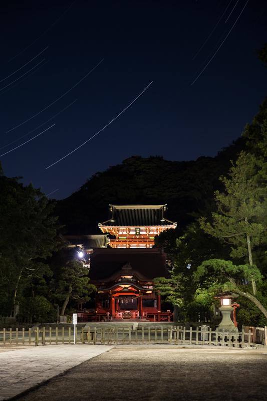 八幡宮参道の星空B.jpg