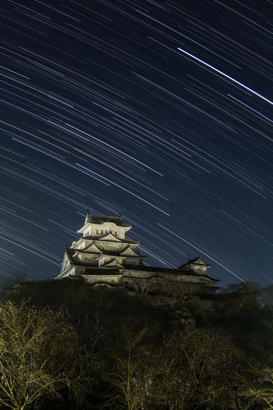 姫路城と南天の空B.jpg